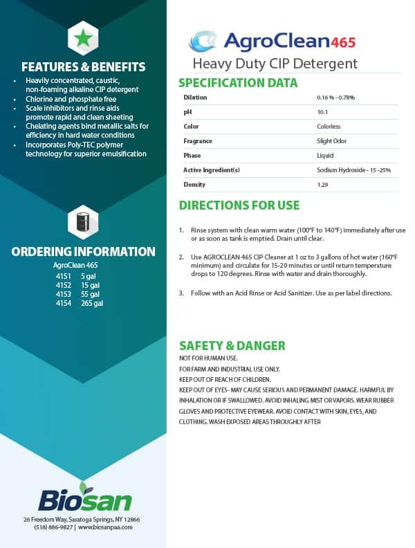 Biosan AgroClean Data Sheet