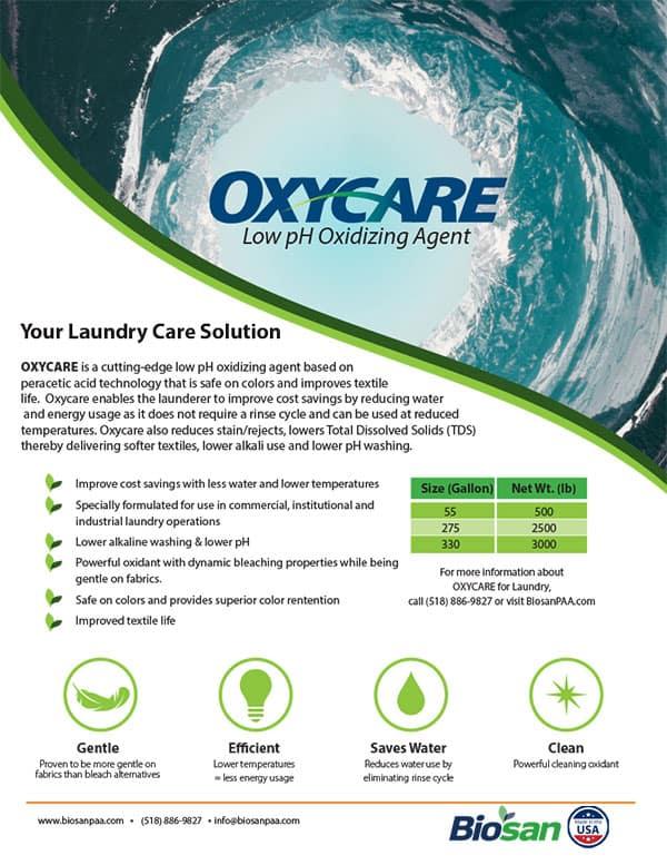 Biosan Oxycare Data Sheet