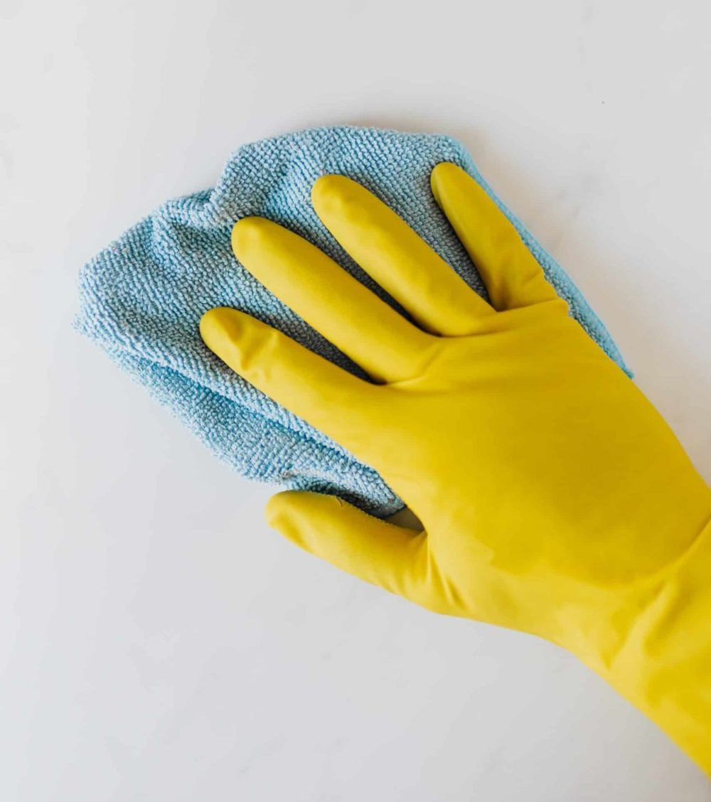 hand cleaning surface